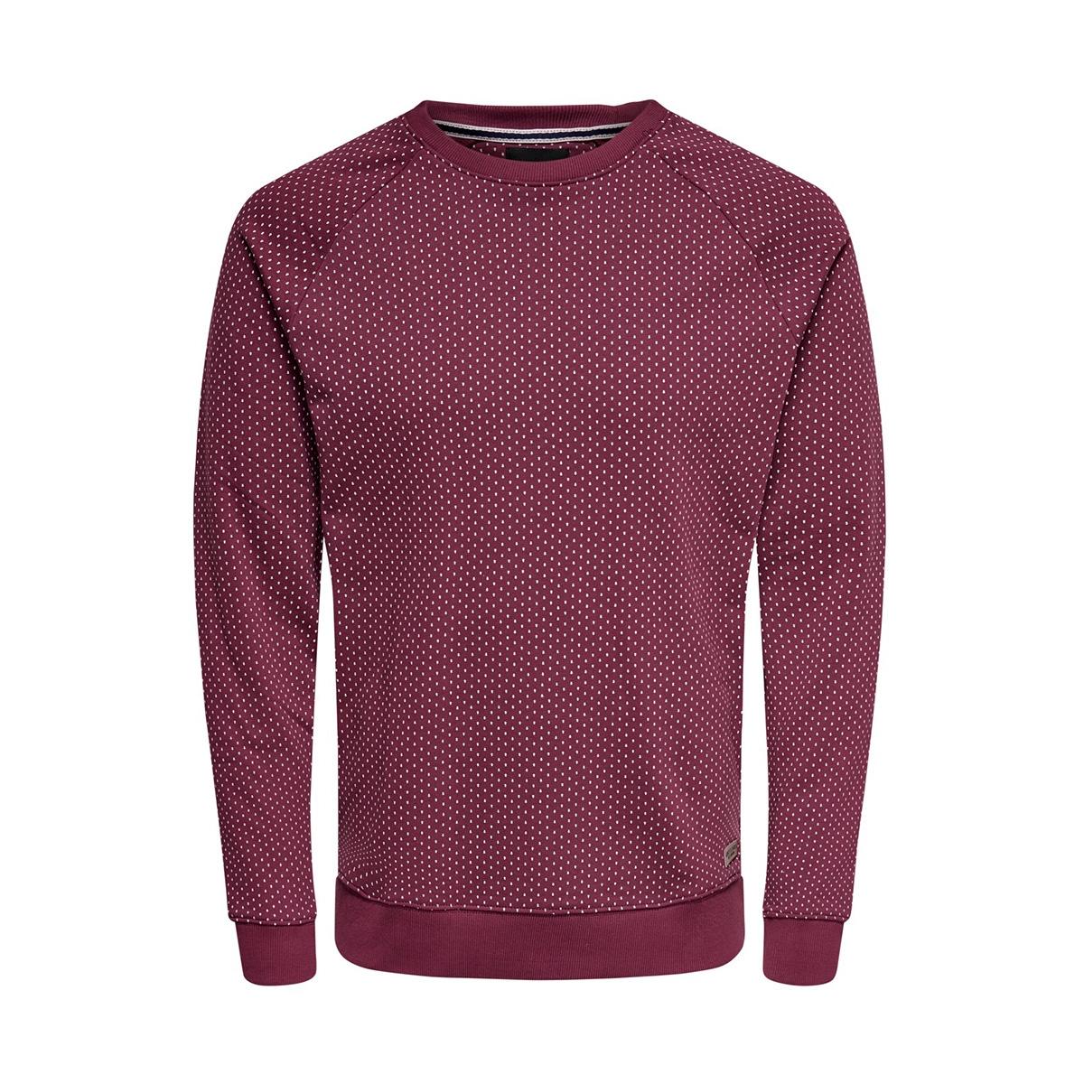 onskean aop crew neck sweat 22013930 only & sons sweater zinfandel