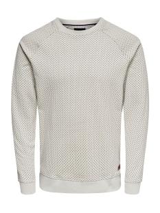 Only & Sons sweater onsKEAN AOP CREW NECK SWEAT 22013930 Glacier Gray