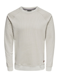 onskean aop crew neck sweat 22013930 only & sons sweater glacier gray