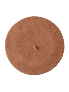 Pieces Hoed PCFRENCH WOOL BERET 17090698 Toasted Coconut