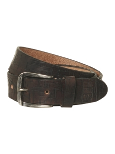 leather belt 92blt52 no-excess riem 042 dk brown