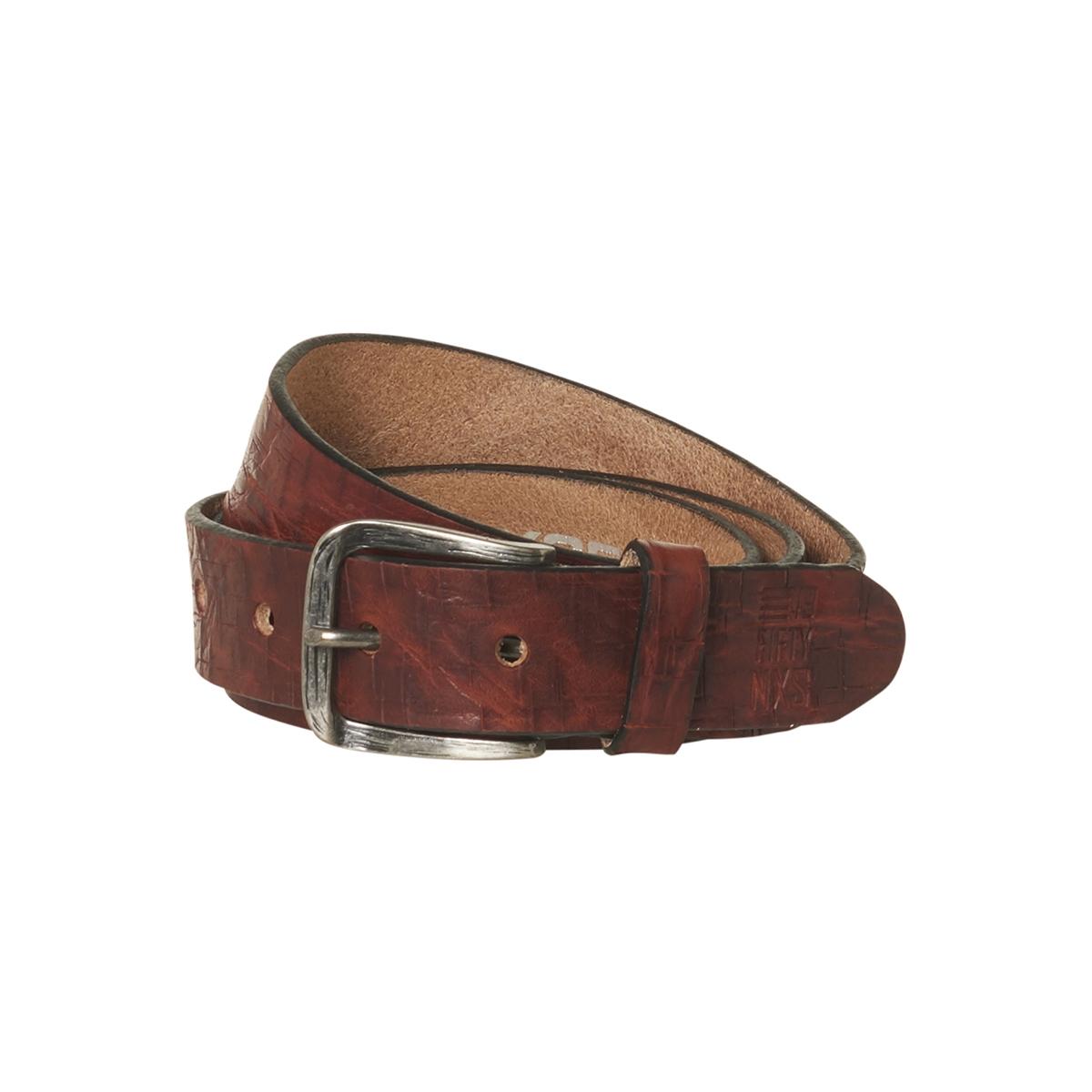 leather belt 92blt52 no-excess riem 140 camel
