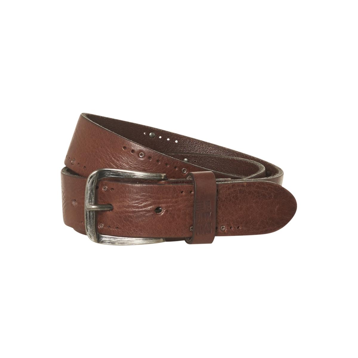 leather belt 92blt50 no-excess riem 042 dk brown
