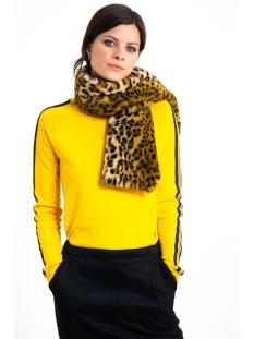 fake fur panterprint sjaal i90131 garcia sjaal 829 beige