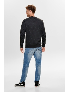 onstabor aop crew neck 22014573 only & sons trui black