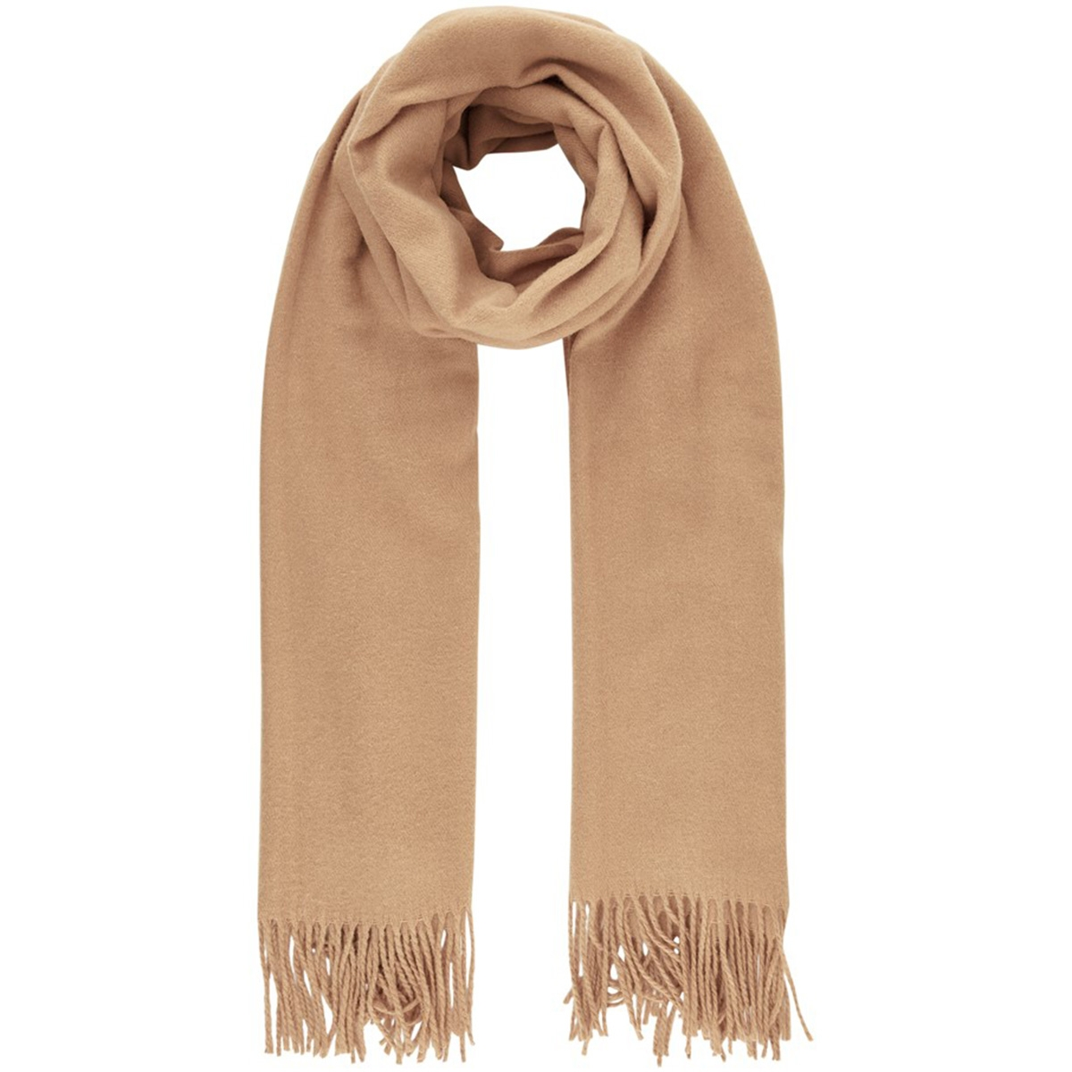 pcjira wool scarf noos 17083758 pieces sjaal toasted coconut