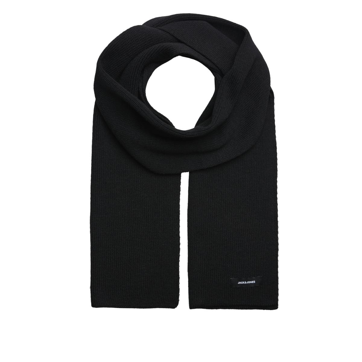 jacdna knit scarf noos 12098582 jack & jones sjaal black