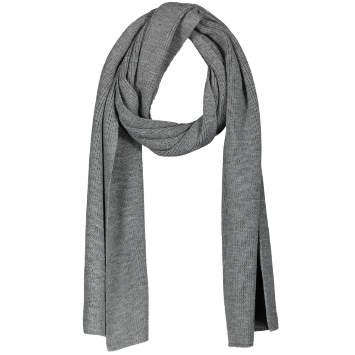 jacdna knit scarf noos 12098582 jack & jones sjaal grey melange