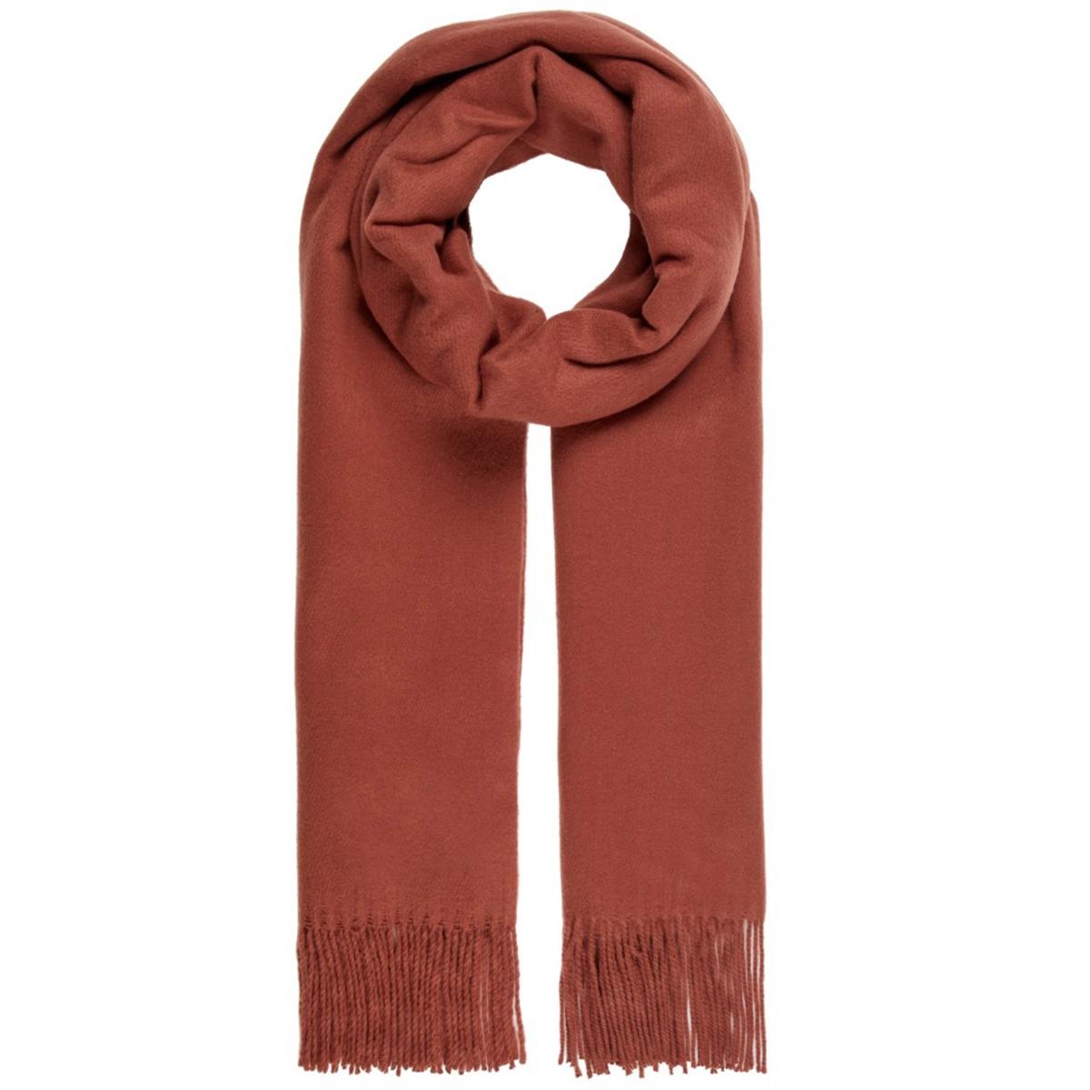 vmimpact long scarf ga color 10215760 vero moda sjaal mahogany