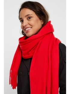 vmimpact long scarf ga color 10215760 vero moda sjaal chinese red