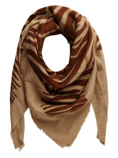 Pieces Sjaal PCHELIN SQUARE SCARF 17098114 Tannin