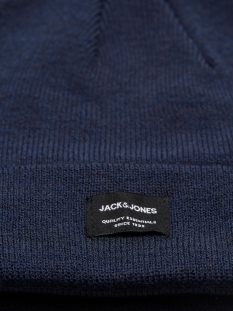 jacdna beanie noos 12092815 jack & jones accessoire navy blazer