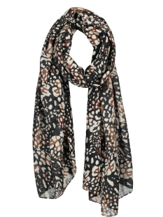 pcikassa long scarf 17100484 pieces sjaal black