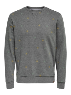 Only & Sons sweater ONSMSOREN SLIM CREWNECK SWEAT 22014894 Medium Grey Melange