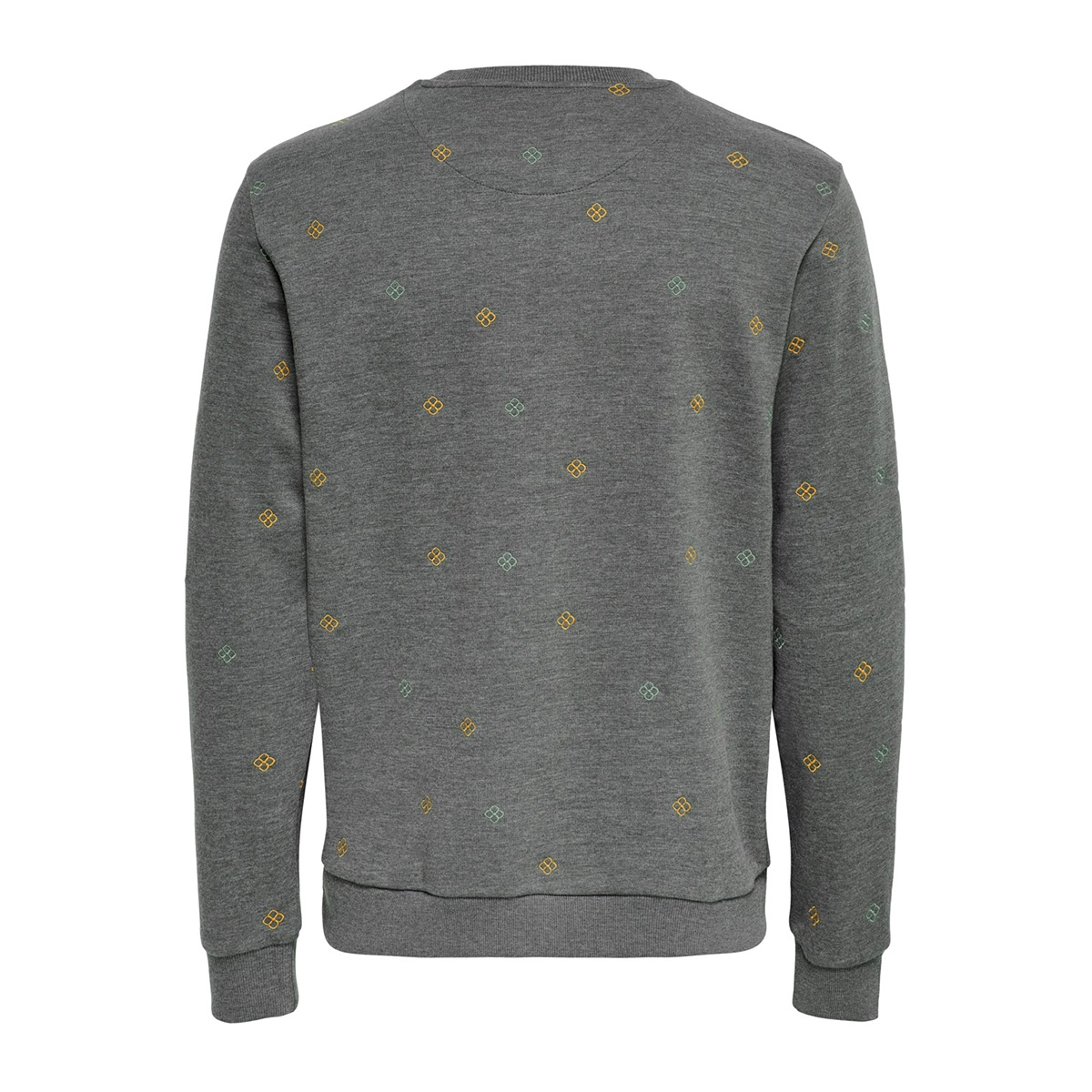 onsmsoren slim crewneck sweat 22014894 only & sons sweater medium grey melange
