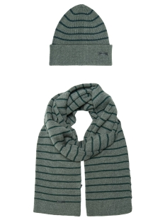 Only & Sons Sjaal onsCONNOR BEANIE SCARF SET 22014852 Medium Grey Melange/DARKEST SPRUCE
