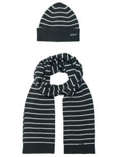 Only & Sons Sjaal onsCONNOR BEANIE SCARF SET 22014852 Dark Navy/WHITE