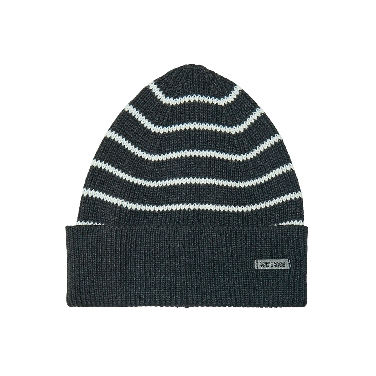 onsconnor beanie scarf set 22014852 only & sons sjaal dark navy/white