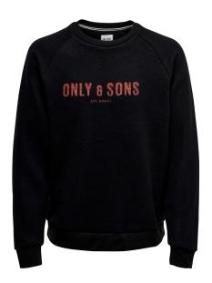 Only & Sons sweater ONSMSPENCER REG RAGLAN CREWNECK SWE 22014900 Black