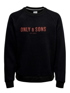 onsmspencer reg raglan crewneck swe 22014900 only & sons sweater black