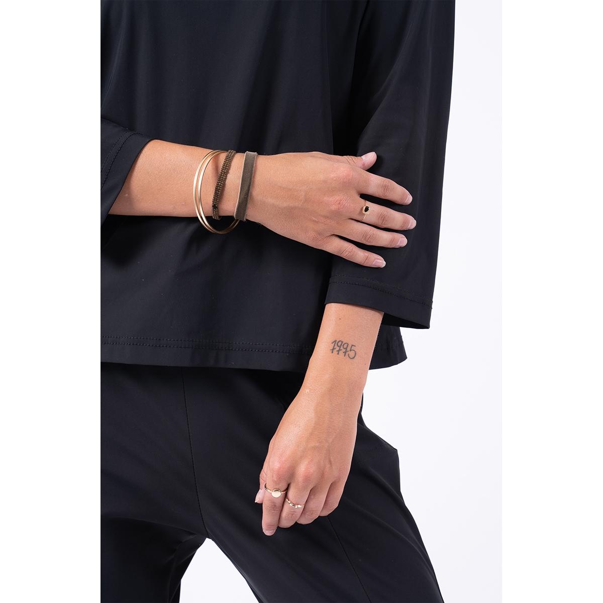 geweven armbandje 04gk19nbbr zusss accessoire bruin