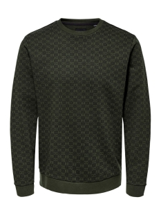 Only & Sons sweater ONSTITSON CREW NECK 22014773 Forest Night