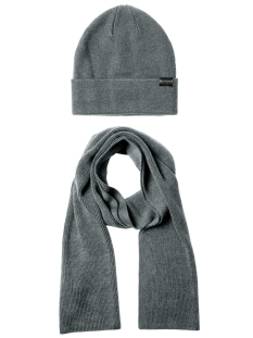 Jack & Jones Sjaal JACJOLLY KNIT GIFTBOX 12163827 Grey Melange