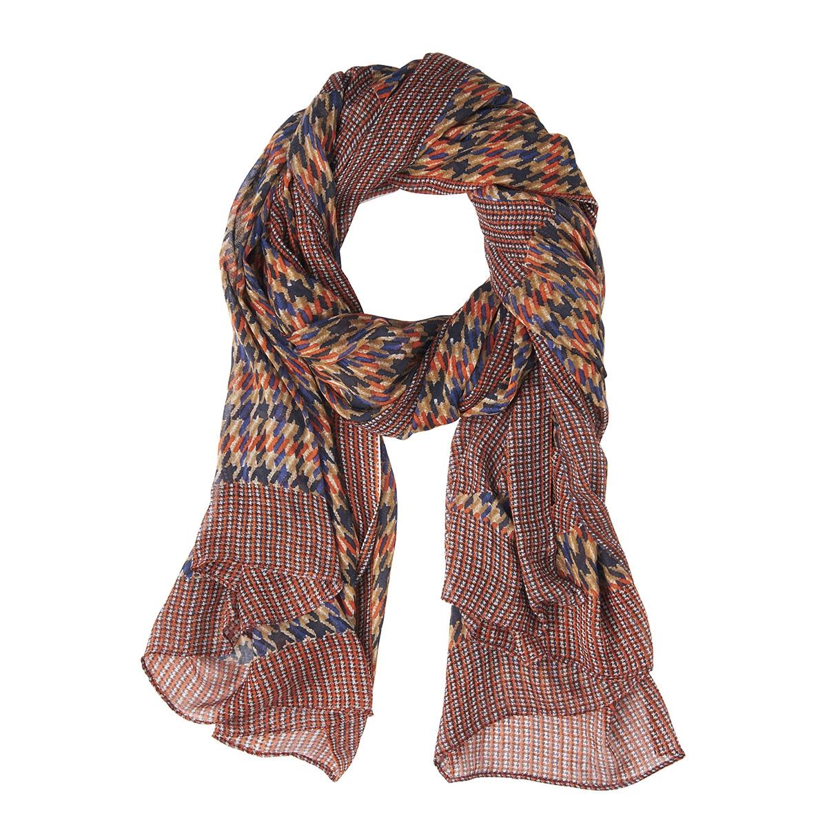 sjaal met pied de poule print 28001493 sandwich sjaal 21023