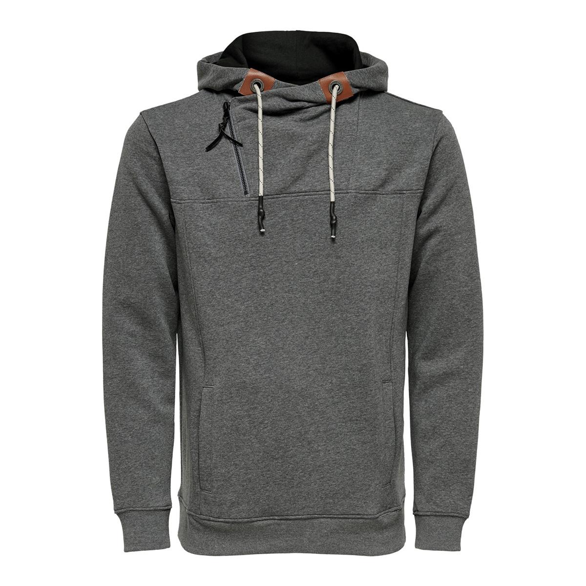onsmklaus sweat 22014918 only & sons sweater dark grey melange