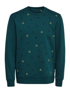 Only & Sons sweater ONSELEMENTS REG CHEST EMB CREW 22016060 Reflecting Pond