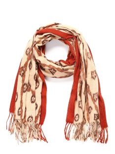 Touch Sjaal SH68650 FLOWER SCARF ORANGE/RED