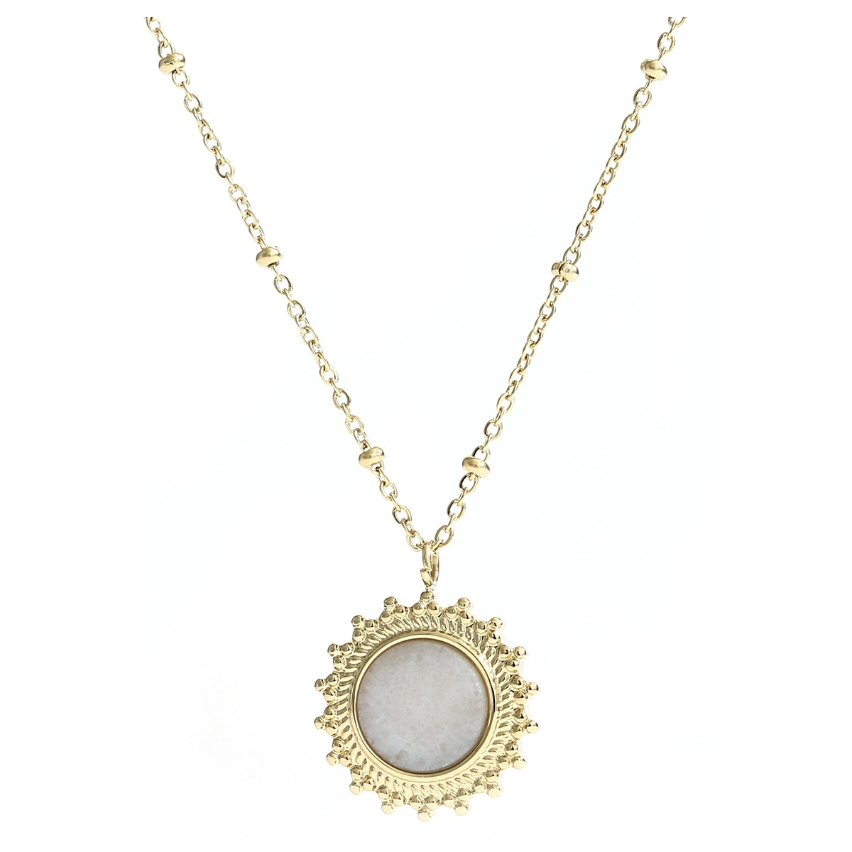 maud necklace  je11288 touch sieraad gold/white