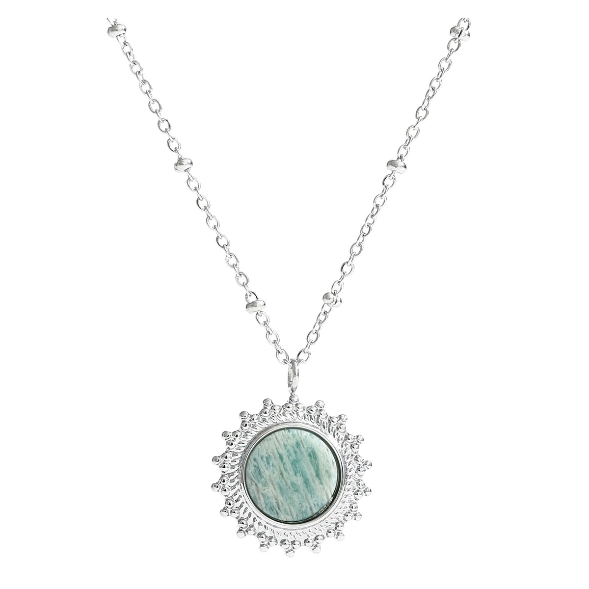 maud necklace  je11288 touch sieraad silver/mint