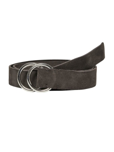 Only Riem ONLTACCO SUEDE JEANS BELT 15194287 Shaved Chocolat/SILVER BUCKLE