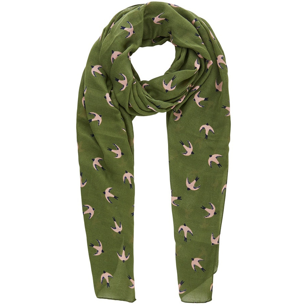 pcnavonja long scarf box 17103484 pieces sjaal deep linchen green