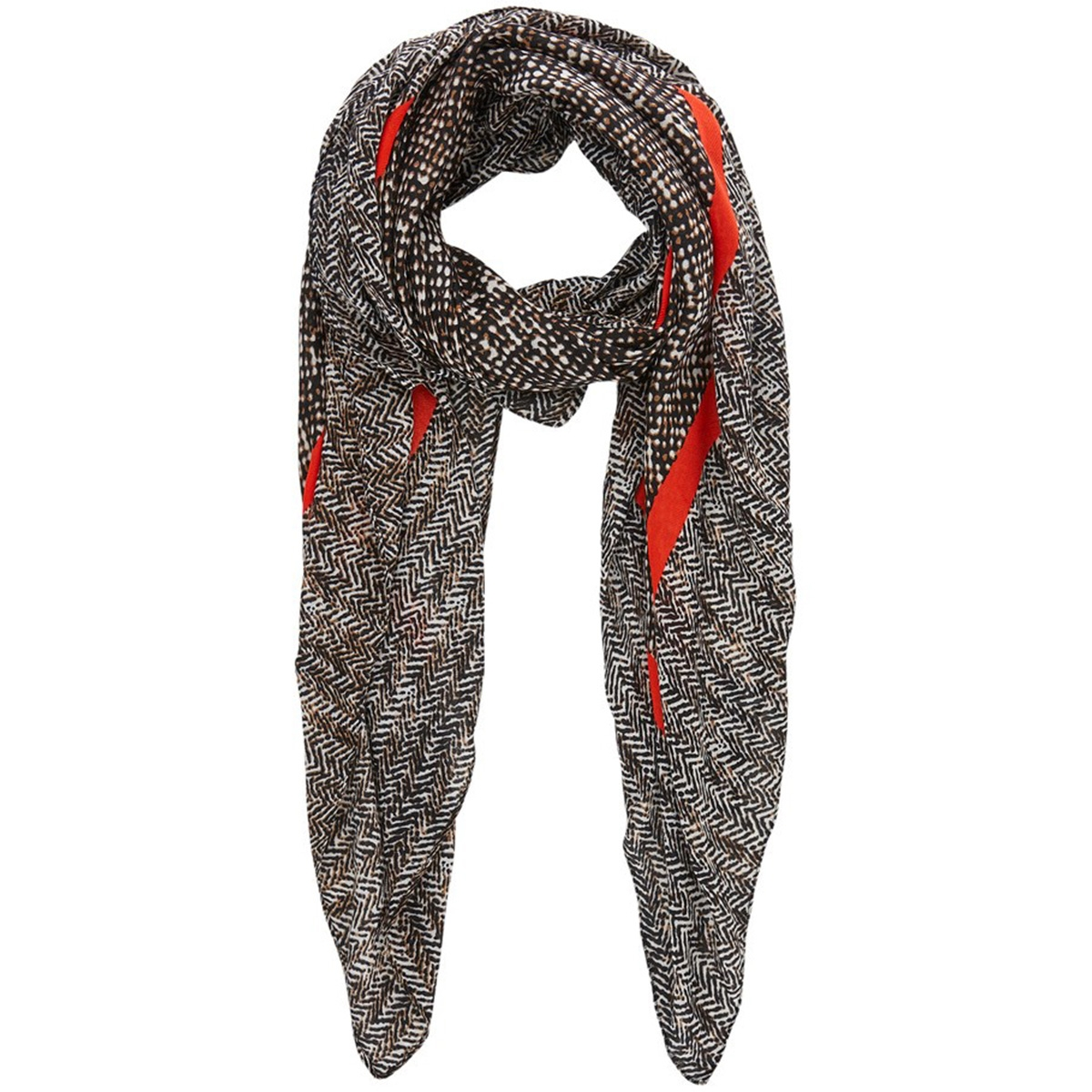 pcneel big square scarf 17102136 pieces sjaal toasted coconut