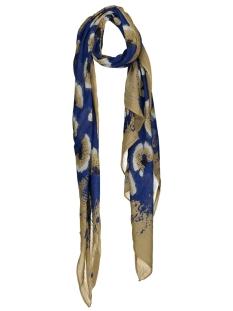 sjaal met bloemenprint 28001512 sandwich sjaal 40031 signal blue