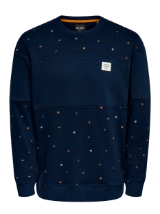 Only & Sons sweater ONSDEXTER REG CREW NECK SWEAT 22015400 Dress Blues