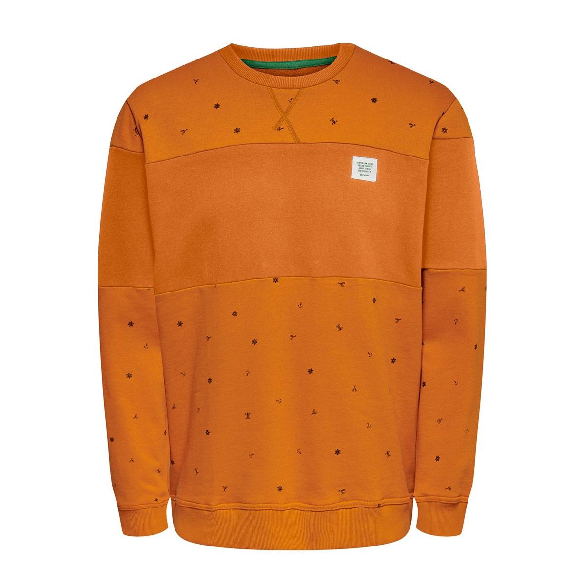 onsdexter reg crew neck sweat 22015400 only & sons sweater marmalade