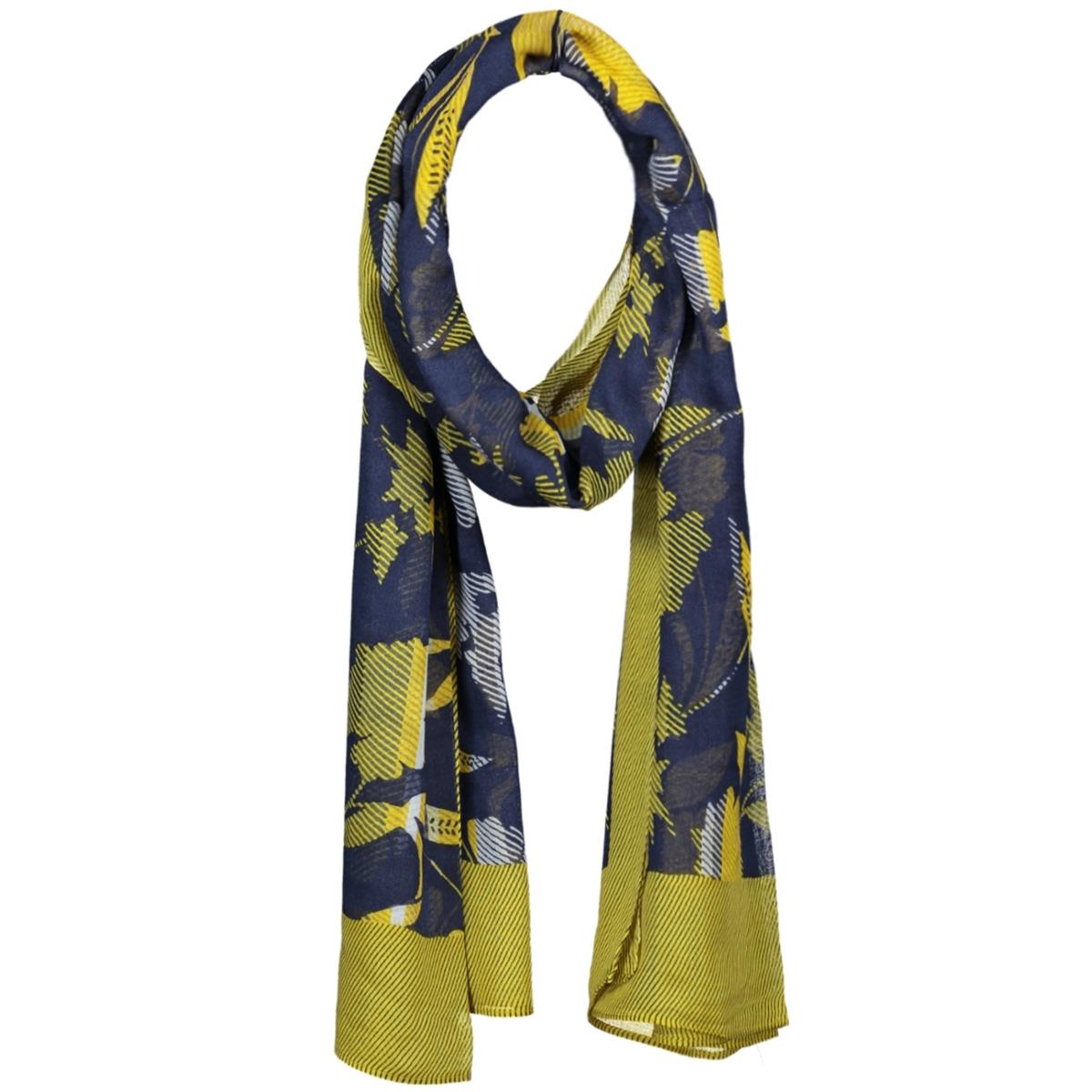 sjaal met bloemenprint 28001513 sandwich sjaal 40115 navy