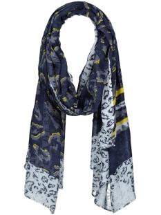 sjaal met mix van prints 28001514 sandwich sjaal 40115 navy