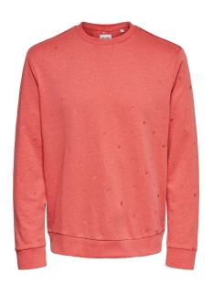 Only & Sons sweater ONSBALDER REG CREWNECK AOE SWEAT 22016859 Cranberry