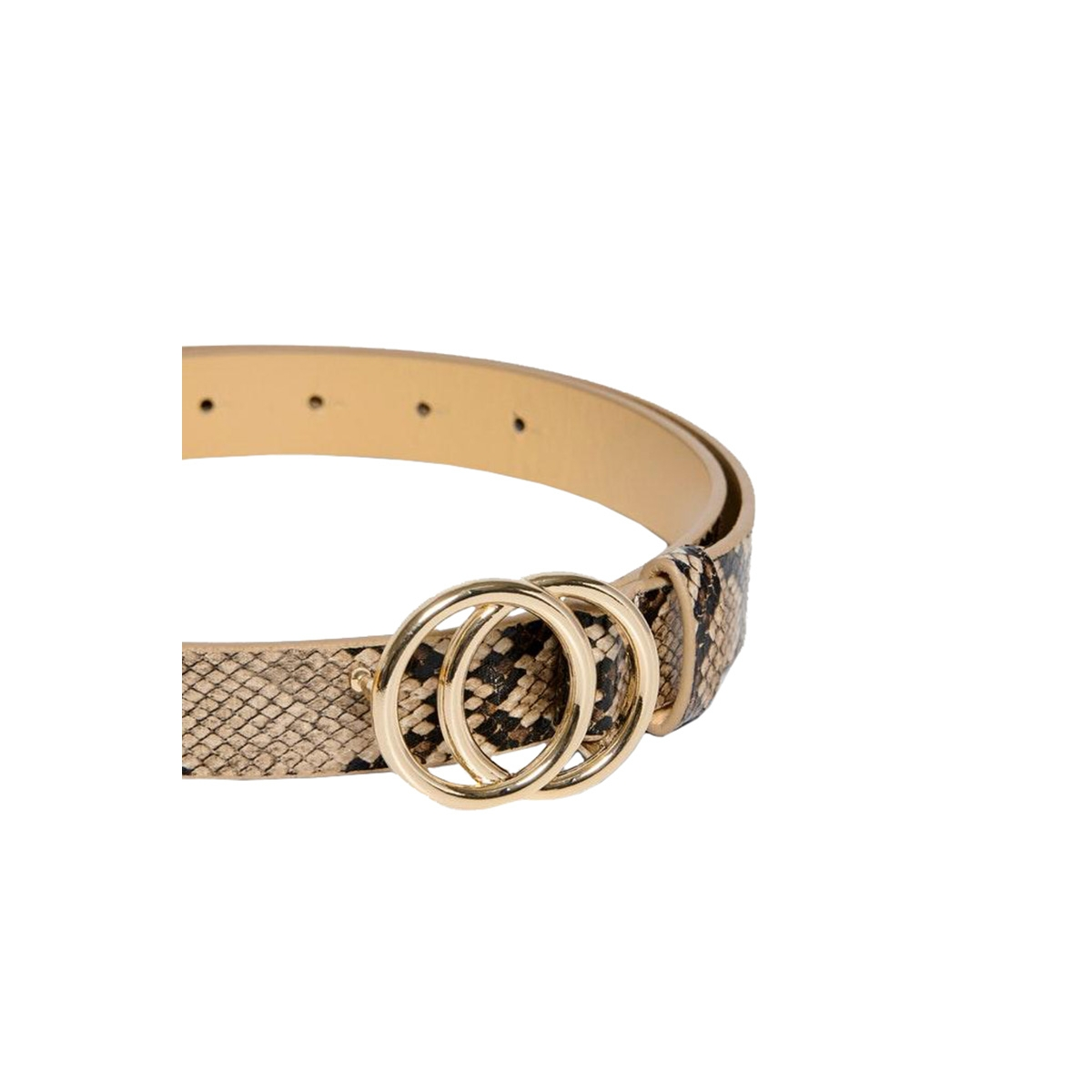 onlrasmine pu snake jeans belt 15215225 only riem natural/naturel snake