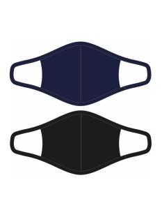 RJ Bodywear Accessoire 2 PACK MONDKAPJE 98 016 008 ZWART/DONKERBLAUW
