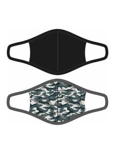 RJ Bodywear Accessoire 2 PACK MONDKAPJE 98 016 PD113 CAMOUFLAGE/ZWART