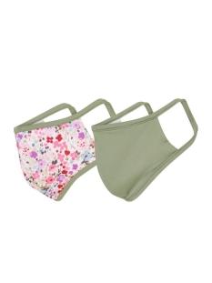 RJ Bodywear Accessoire 2 PACK  MONDKAPJE 98 017 PD153 FLOWERS/OLIJF