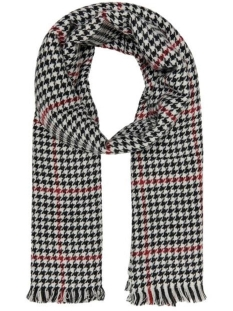 Only Sjaal ONLSIA WEAVED SCARF CC 15160357 Rhubarb/BLACK-WHITE