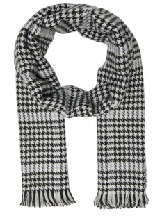 Only Sjaal ONLSIA WEAVED SCARF CC 15160357 Blue Fog/BLACK-WHITE