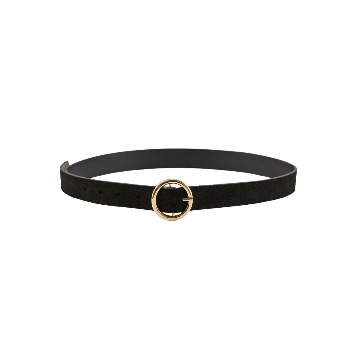 pcbonna suede jeans belt noos 17106159 pieces riem black/gold buckl