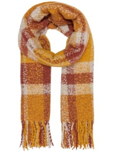 Only Sjaal ONLJANET WEAVED SCARF CC 15161957 Golden Yellow/FIRED BRICK